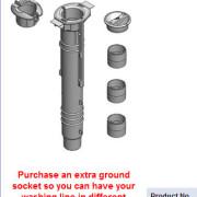 rotary hoist ground socket