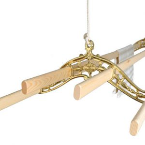 Laundry rack ceiling mounted