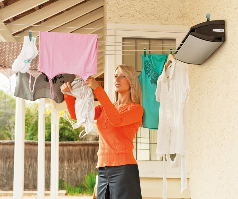 Hills Everyday 6 Retractable Washing Line Clothes Airers
