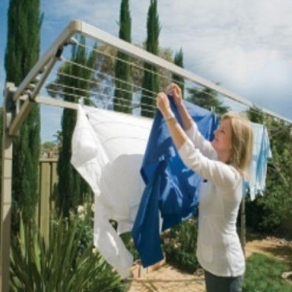 Hills Supa Fold Mono Wall Mounted Washing Line Eco